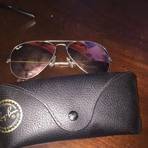 Ray bans  mirror rose gold sunglasses